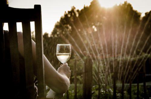 guter Wein bei automatischer Gartenarbeit